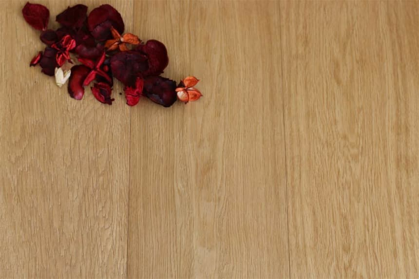 Prime Engineered Flooring Oak Brushed UV Oiled 15/4mm By 250mm By 2200mm