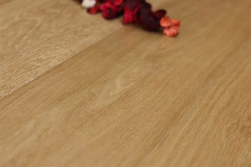 Prime Engineered Flooring Oak Click Light Brushed UV Oiled 14/3.6mm By 198mm By 2400mm