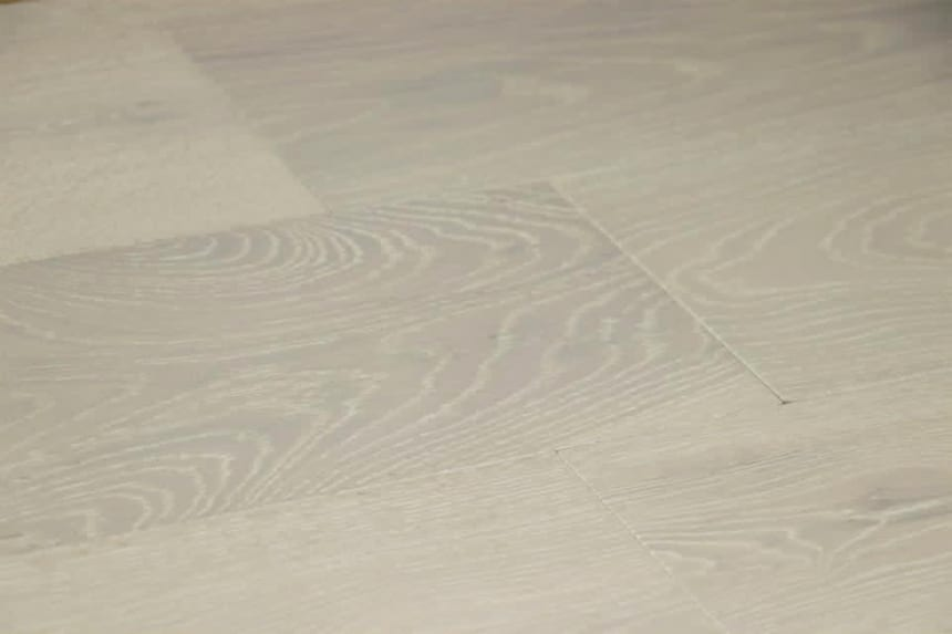Prime Engineered Flooring Oak Double White Brushed UV Matt Lacquered 14/3mm By 178mm By 2000mm