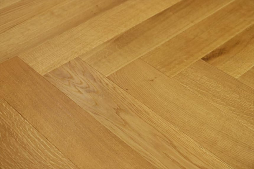 Prime Engineered Flooring Oak Herringbone Brushed UV Matt Lacquered 14/3mm By 98mm By 790mm