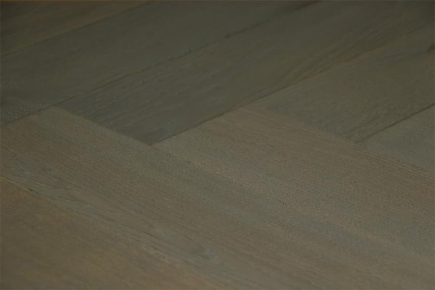 Prime Engineered Flooring Oak Herringbone Summer Grey Brushed UV Oiled 15/4mm By 90mm By 600mm