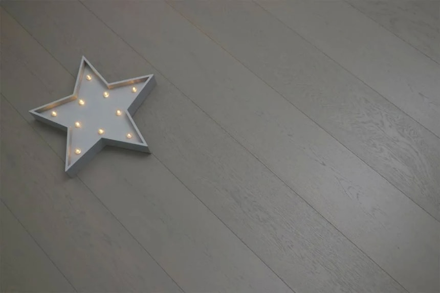 Natural Engineered Flooring Oak Summer Grey Brushed UV Oiled 14/3mm By 190mm By 1900mm