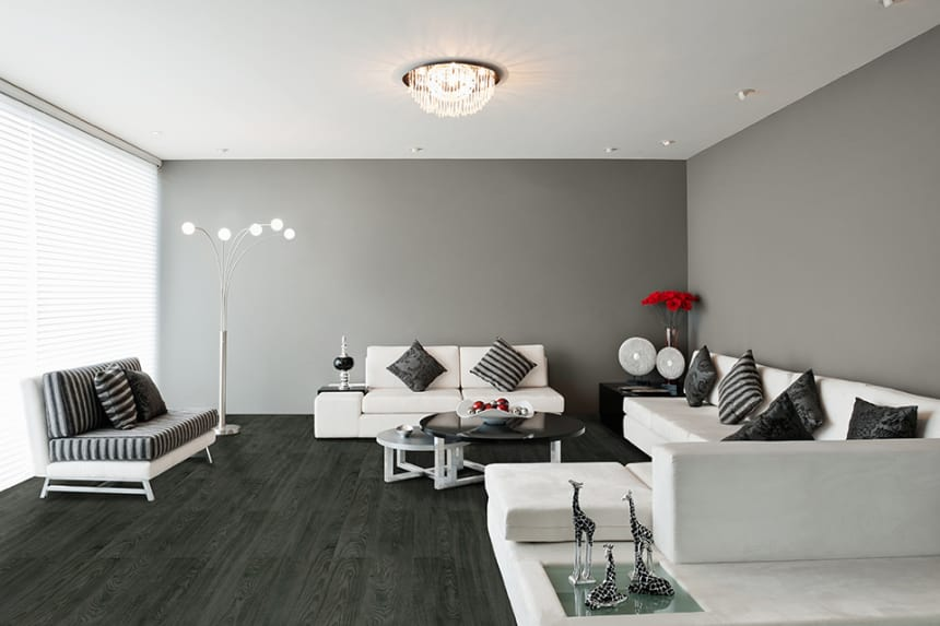 Luxury Click Vinyl Flooring Black Tea 5mm by 169mm by 1210mm