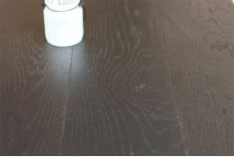 Natural Engineered Oak Click Jet Black Brushed UV Lacquered 14/3mm By 150mm By 400-1500mm