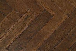 Prime Engineered Flooring Oak Herringbone Coffee Brushed UV Oiled 15/4mm By 90mm By 600mm