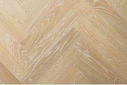 Prime Engineered Oak Herringbone Sunny White Brushed UV Oiled 15/4mm By 90mm By 600mm