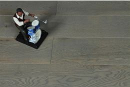 Natural Engineered Oak Sahara Grey Brushed UV Lacquered 14/3mm By 190mm By 400-1500mm
