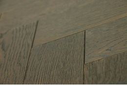 Natural Engineered Flooring Oak Herringbone Black Tea Brushed UV Oiled 15/4mm By 90mm By 630mm