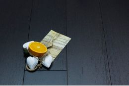 Natural Engineered Oak Click Jet Black Brushed UV Lacquered 14/3mm By 190mm By 400-1500mm