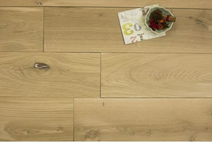 Natural Engineered Oak Brushed Unfinished 20/5mm By 300mm By 2200mm