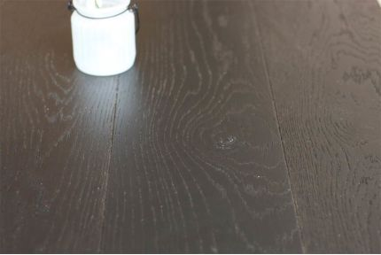 Natural Engineered Oak Jet Black Brushed UV Lacquered 14/3mm By 190mm By 400-1500mm