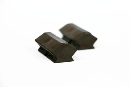 Solid Plastic Decking Clips for Iroko Hidden Fixing Boards 100 pcs/box