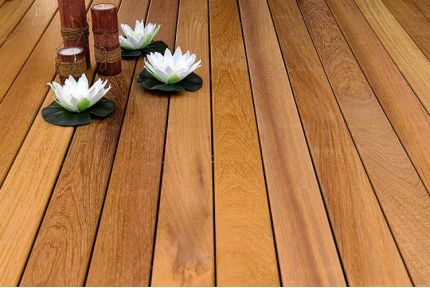 Iroko Hardwood Decking Boards Using Hidden Fixing 21mm By 120mm By 1800-3000mm