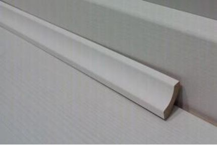 White MDF Scotia Beading 16mm by 16mm by 2400mm