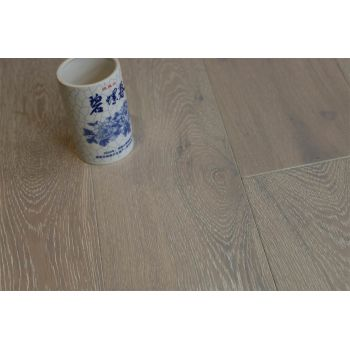 Natural Engineered Flooring Oak Brushed White UV Oiled 14/3mm By 150mm By 400-1500mm