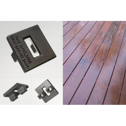 Decking Clips for Ipe and Balau Hidden Fixing Boards