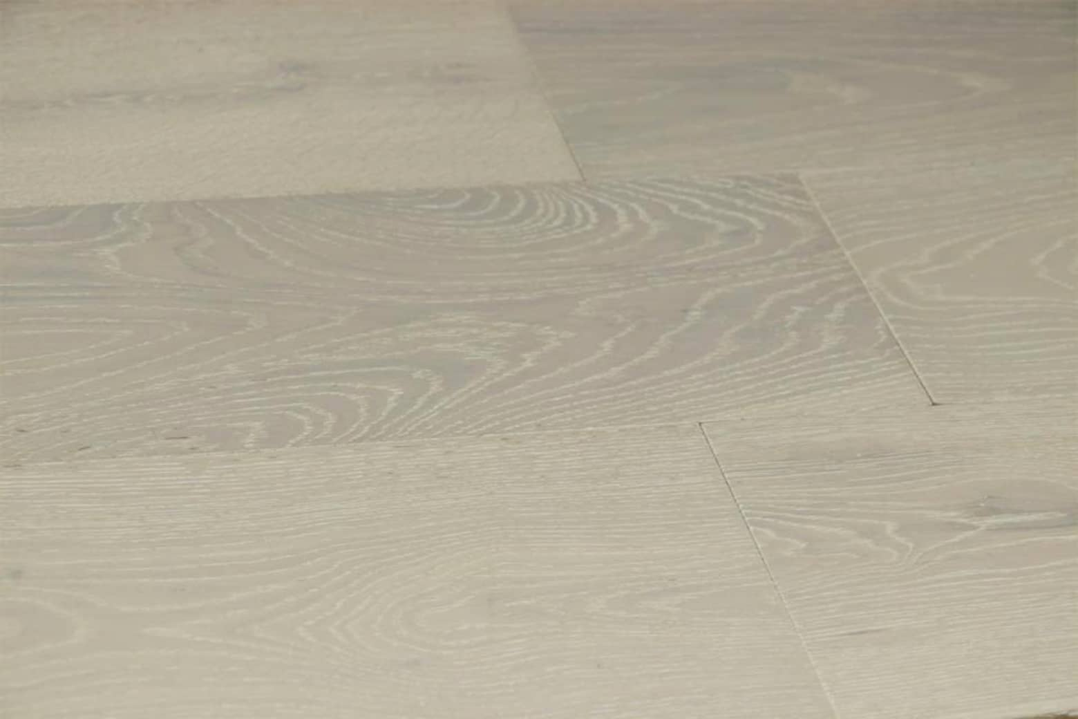 Natural Engineered Flooring Oak Double White Brushed UV Lacquered 14/3mm By 150mm By 400-1500mm