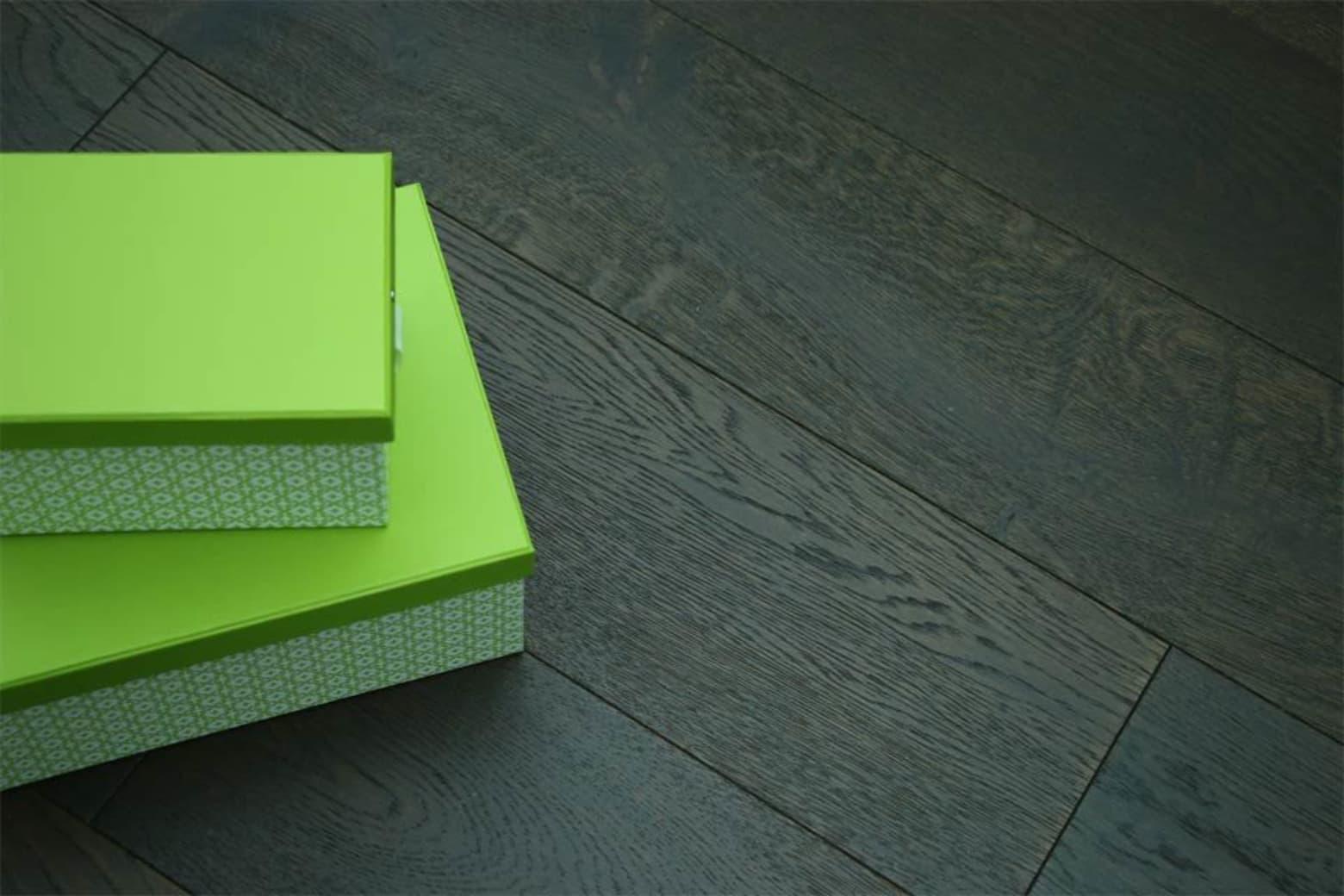 Rustic Engineered Flooring Oak Black Tea Brushed UV Oiled 10/3mm By 150mm By 600-1200mm