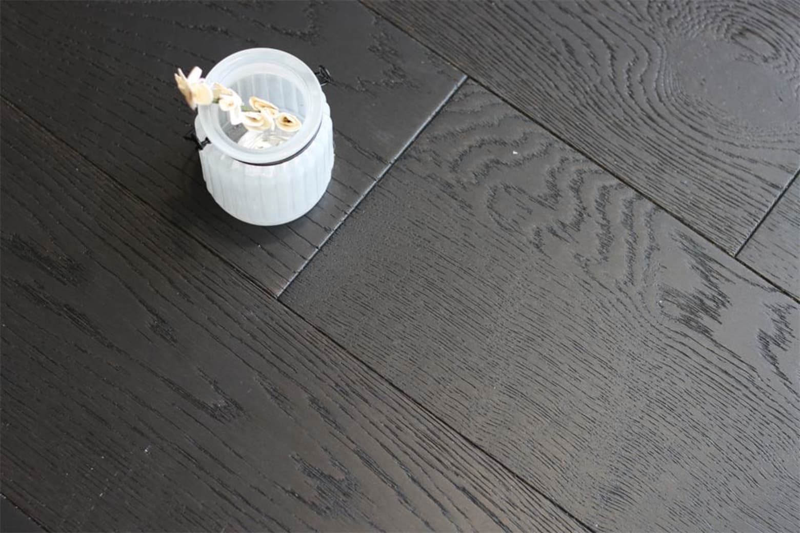 Rustic Engineered Flooring Oak Jet Black Brushed UV Lacquered 10/3mm By 150mm By 600-1200mm