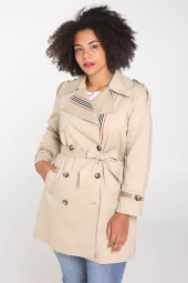 Offizieller Lieferant tolle sorten an vorderster Front der Zeit Trenchcoat Damen große Größen bei Wundercurves