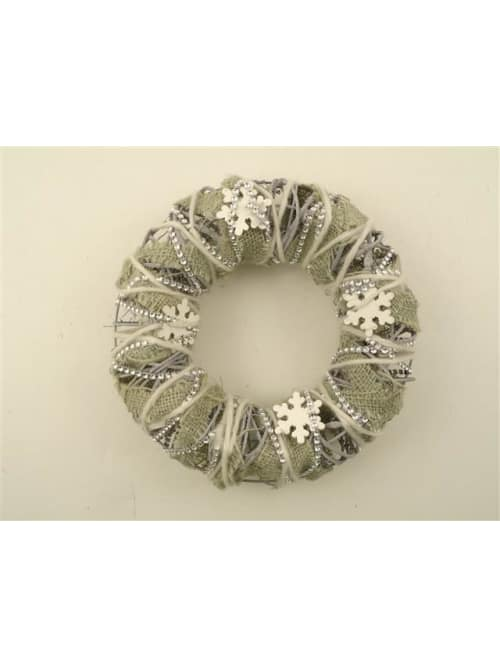 Disraeli CORONA IN TESSUTO VERDE - Decorazione natalizia