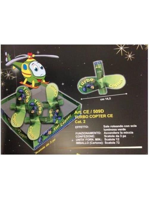 FARFALLA TURBO COPTER CE - Sale ruotando lasciando una scia verde