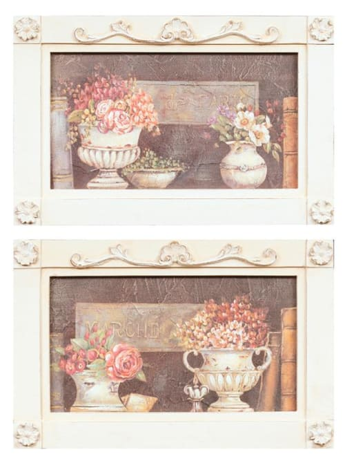 Angelica Home & Country QUADRO CORNICE VASI - Quadro decorato