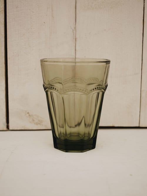 Bicchiere in vetro Antoniette verde