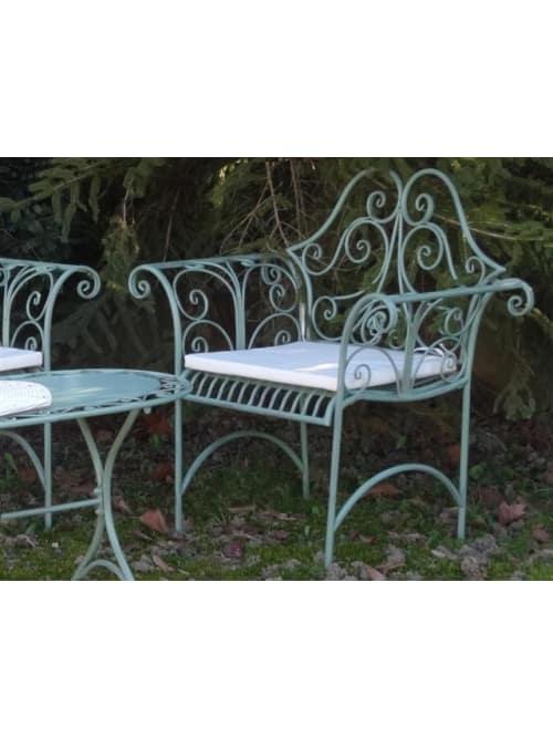 Disraeli poltrona garden in ferro verde
