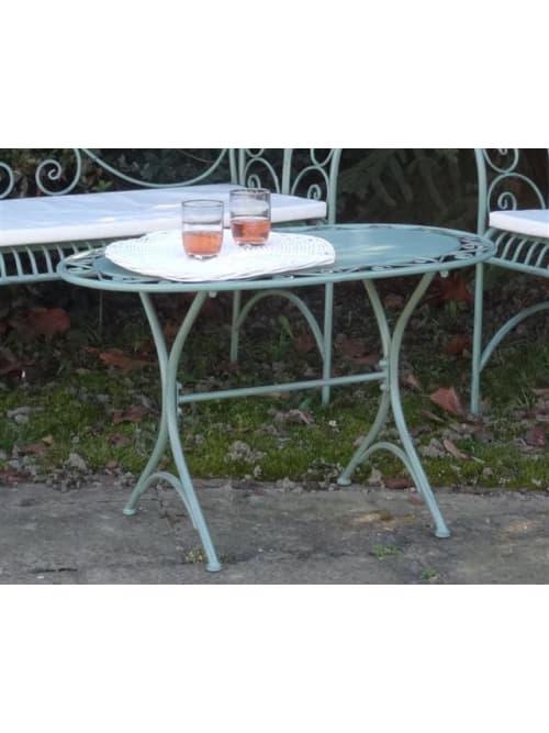 Disraeli tavolino garden in ferro verde