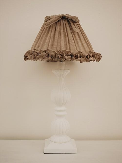 Lampada da tavolo cappuccio tortora - Disraeli