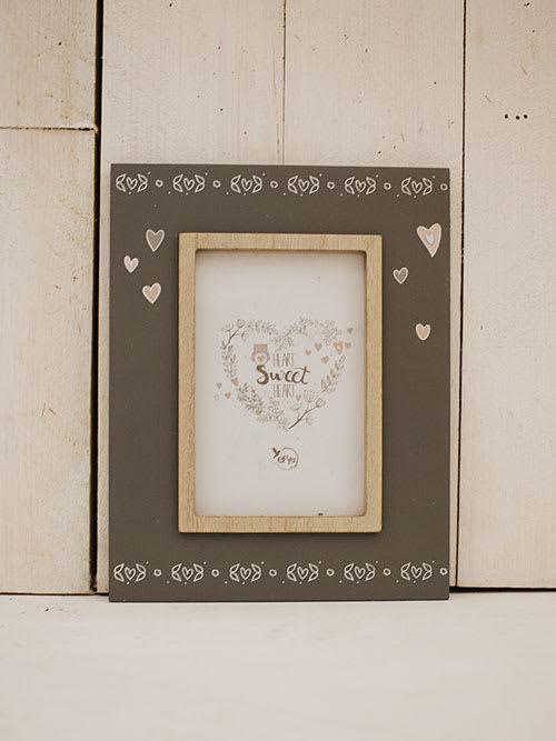 Porta foto Cally, in legno grigio - Faye