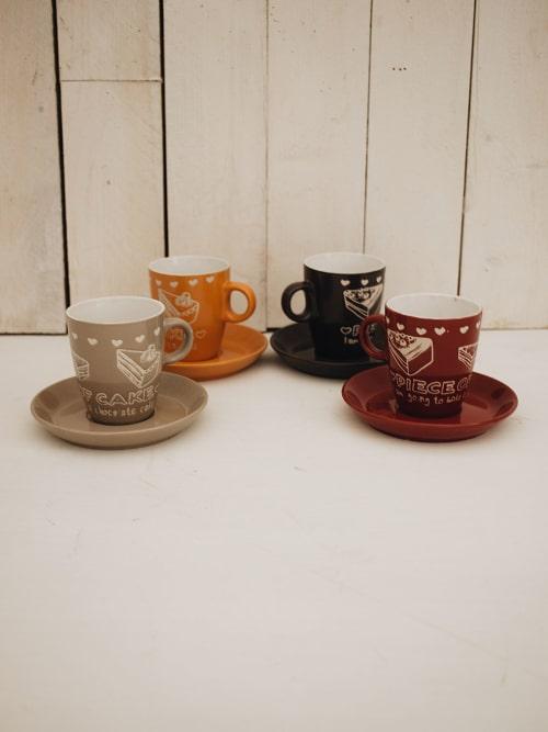 Set quattro tazze da cappuccino
