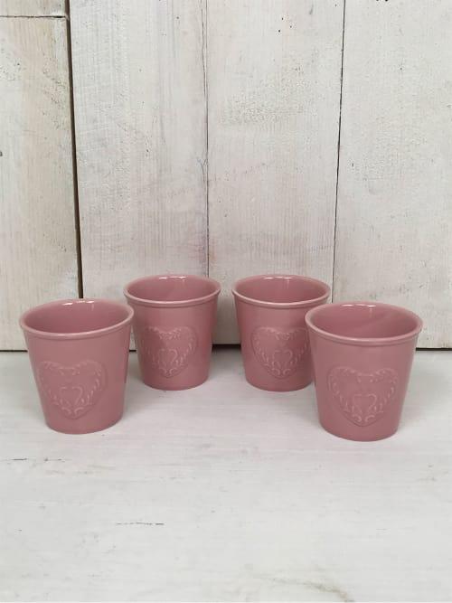 Set 4 tazzine da caffè rosa - Ad Trend