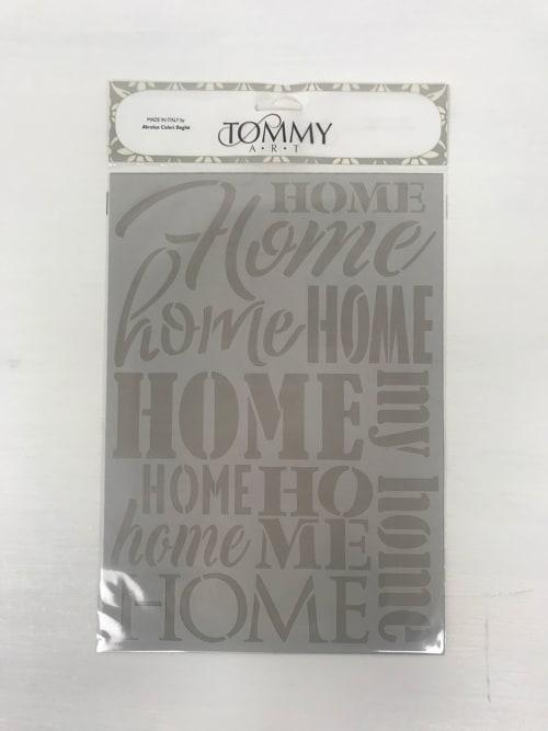 Stencil scritte Home - Tommy Art