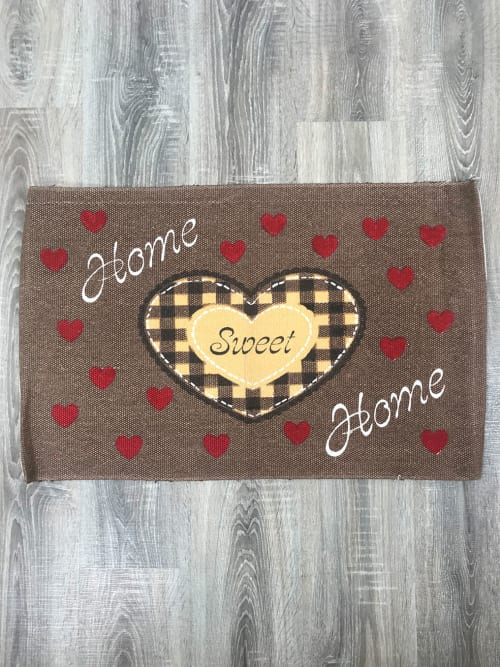 Tappeto cuore giallo home sweet home - Ad Trend