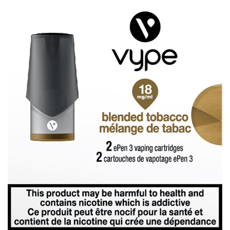 Vype ePen 3 Blended Tobacco Cartridges (2pk)