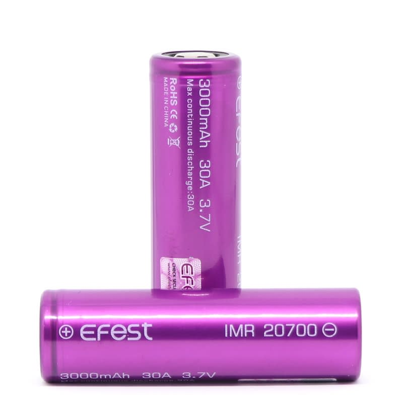 Efest 20700 IMR Batteries - 30A, 3000mah (2pcs)