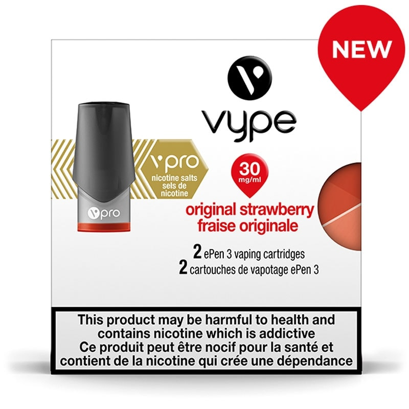 Vype ePen 3 Original Strawberry Cartridges 2pk (vPro 30mg)