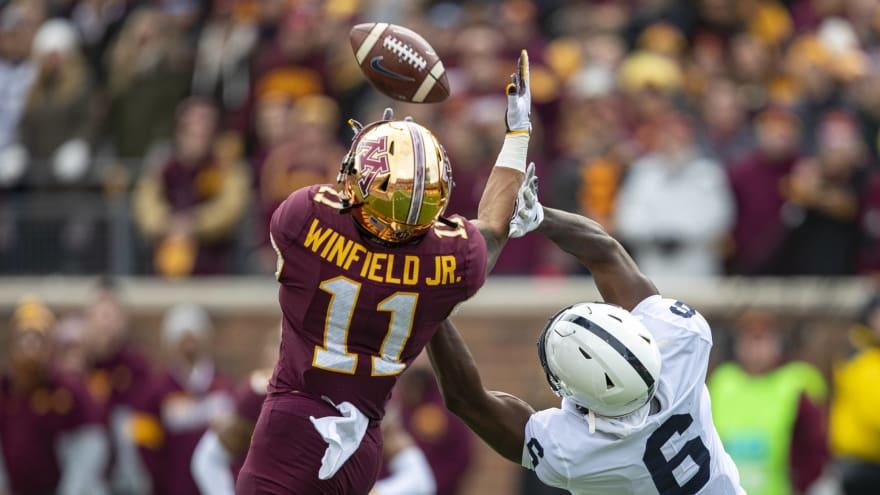 Watch: Minnesota DB Antoine Winfield Jr. has two first-half interceptions against Penn State