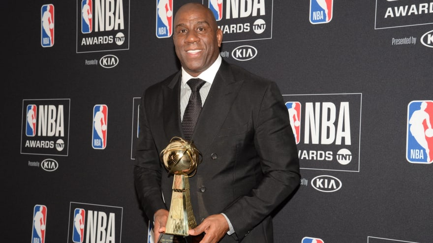 Magic Johnson reflects on Lifetime Achievement Award, thanks Adam Silver
