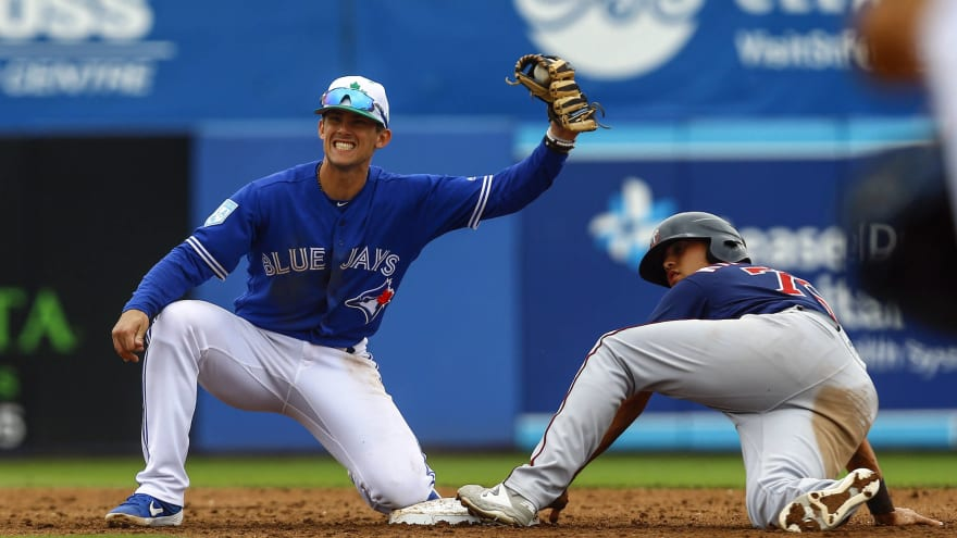 hot sale online f1589 02240 Blue Jays make MLB history with call-up of prospect Cavan ...