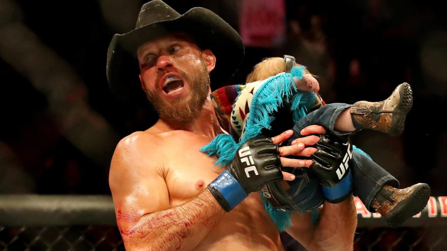 Cowboy Cerrone blew his nose while broken and his eye blew up