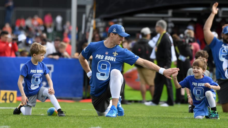 685faa4e9 Watch  Drew Brees  sons get rowdy during funny Pro Bowl interview ...