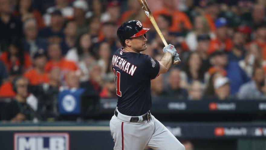Watch: Ryan Zimmerman blasts HR off Gerrit Cole in Game 1 of World Series
