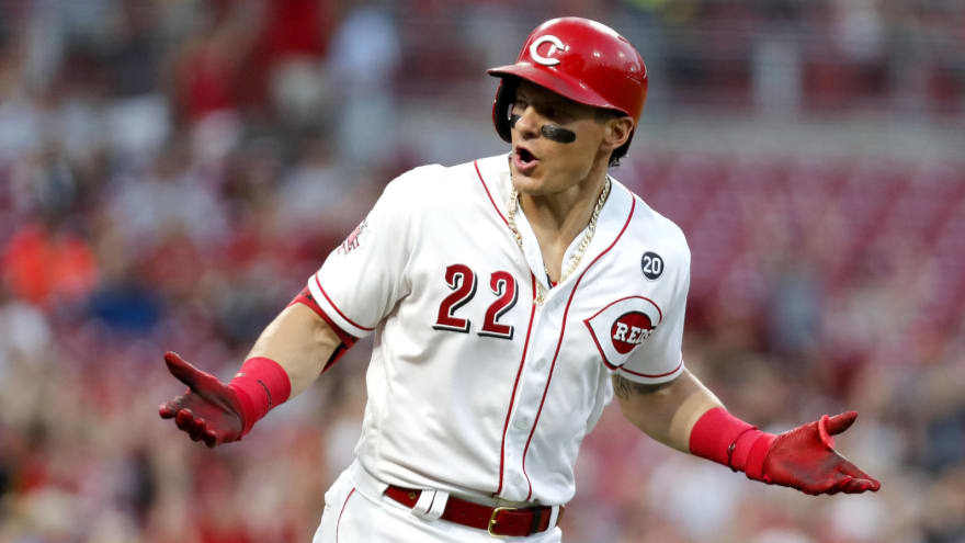 free shipping 01163 17d9c Watch: Derek Dietrich continues to own Pirates with three ...