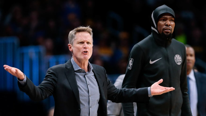 Report: Kevin Durant unhappy with 'prodding' from Steve Kerr