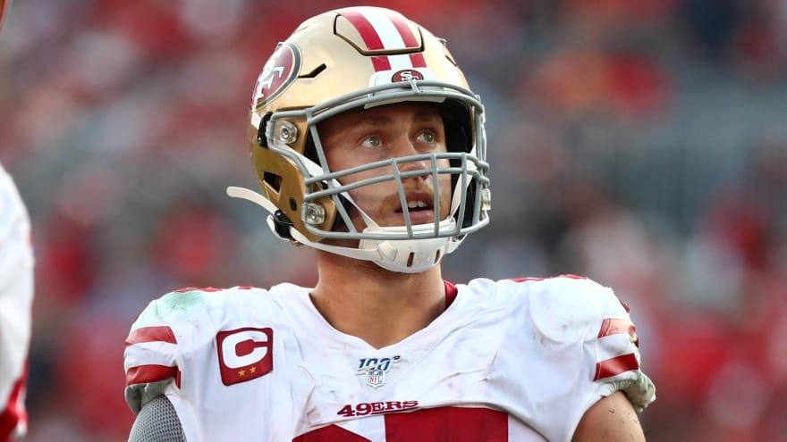 Watch George Kittle Stiff Arms Two Bengals Defenders Into