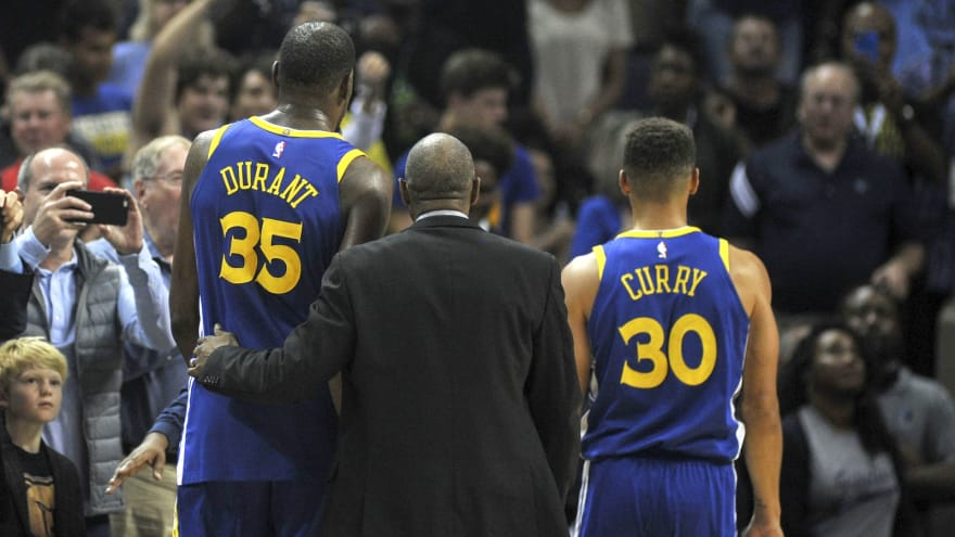 Steph Curry and Kevin Durant get tossed in Warriors' loss