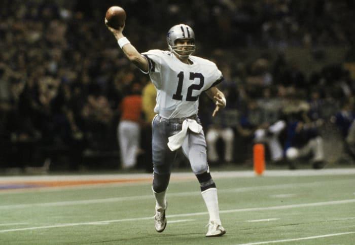 Super Bowl XII: Roger Staubach, Dallas Cowboys, and Craig Morton, Denver Broncos